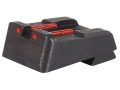 HIVIZ Rear Sight Springfield 1911 All Models with Fixed Rear Sight (Except GI and Mil Spec Models) Steel Fiber Optic Red