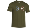 Under Armour Men's UA Hook Logo T-Shirt Short Sleeve Cotton and Polyester Blend