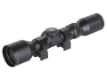 TRUGLO Compact Rifle Scope 3-9x 40mm Duplex Reticle Matte with Weaver-Style Rings