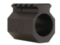 DoubleStar Gas Block Single Picatinny Rail AR-15, LR-308 Bull Barrel .936&quot; Inside Diameter Aluminum Matte
