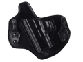 Product detail of Bianchi Allusion Series 135 Suppression Tuckable Inside the Waistband Holster Left Hand Glock 17, 22, 31 Leather Black