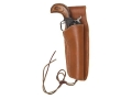 "Hunter 1060 Frontier Holster Right Hand Colt Single Action Army, Ruger Blackhawk, Vaquero 4-.75"" to 5.5"" Barrel Leather Brown"