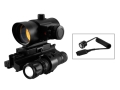 NcStar Special Operations Combo 1x 40mm Red Dot Sight with Integral Red Laser, AR-15 Tri-Rail Mount and Flashlight Matte