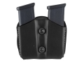 DeSantis Double Magazine Pouch 40 S&amp;W, 9mm Single Stack Magazines Leather Black