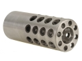 Vais Muzzle Brake 13/16&quot; 375 Caliber 9/16&quot;-32 Thread .812&quot; Outside Diameter x 2&quot; Length Stainless Steel