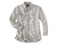 Woolrich Elite Oxford Concealed Carry Long Sleeve Shirt Cotton Loden Plaid Medium