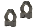 "Warne 1"" Permanent-Attachable Ring Mounts Tikka Matte Medium"
