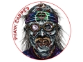 "Product detail of Lyman Zombie Dot Frank Zapped Target 8"" Self-Adhesive Package of 10"