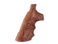 Hogue Fancy Hardwood Grips with Finger Grooves Colt Anaconda, King Cobra Rosewood Laminate