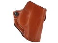Product detail of DeSantis Mini Scabbard Outside the Waistband Holster Right Hand Ruger LC9 Leather Tan