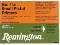 Remington Small Pistol Primers #1-1/2 Case of 5000 (5 Boxes of 1000)