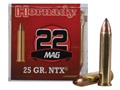 Hornady Ammunition 22 Winchester Magnum Rimfire (WMR) 25 Grain NTX
