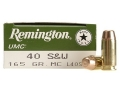 Remington UMC Ammunition 40 S&W 165 Grain Full Metal Jacket Box of 50