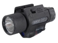 Insight Tech Gear M6X Long Gun Tactical Illuminator Flashlight with Laser Halogen Bulb  fits Picatinny Rails Polymer Black