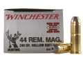Winchester Super-X Ammunition 44 Remington Magnum 240 Grain Hollow Soft Point Case of 200 (10 Boxes of 20)