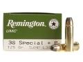 Remington UMC Ammunition 38 Special +P 125 Grain Jacketed Hollow Point
