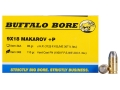 Product detail of Buffalo Bore Ammunition 9x18mm (9mm Makarov) 115 Grain Hard Cast Flat Nose Box of 20