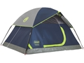 """Coleman SunDome 2 Man Dome Tent 60"""" x 84"""" x 48"""" Polyester Navy and Gray"""