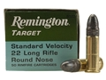Remington Target Ammunition 22 Long Rifle 40 Grain Lead Round Nose Box of 500 (10 Boxes of 50)