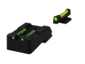 HIVIZ Sight Set 1911 Kimber Cut Fiber Optic Green Rear, 6 Interchangeable Front Fiber Optics