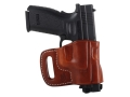 El Paso Saddlery Combat Express Belt Slide Holster Right Hand Springfield XD 9mm, 40 S&W Leather Russet Brown