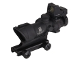 Trijicon ACOG TA01-M4A1-RMR Rifle Scope 4x 32mm Tritium Illuminated Amber Crosshair 223 Remington Reticle with 3.25 MOA RMR Red Dot Sight and TA51 Flattop Mount Matte