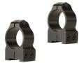 "Warne 1"" Permanent-Attachable Ring Mounts Tikka Gloss Medium"