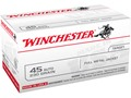 Winchester USA Ammunition 45 ACP 230 Grain Full Metal Jacket Box of 100