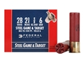 "Federal Game & Target Ammunition 28 Gauge 2-3/4"" 5/8 oz #6 Non-Toxic Steel Shot Box of 25"