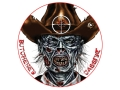 Lyman Zombie Dot Butchered Cassidy Target 8&quot; Self-Adhesive Package of 10