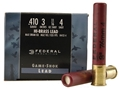 Federal Game-Shok Hi-Brass Ammunition 410 Bore 3&quot; 11/16 oz #4 Shot Box of 25