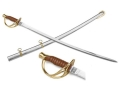 "Collector's Armoury Replica Civil War Confederate Officer's Sabre 36"" Carbon Steel Blade Brass Fitted Steel Scabbard"