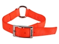 "Remington Double Ply Center Ring Dog Collar 1"" x 24"" Nylon Blaze Orange"