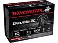 "Winchester Double X Turkey Ammunition 10 Gauge 3-1/2"" 2 oz #4 Copper Plated Shot"