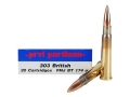 Prvi Partizan Ammunition 303 British 174 Grain Full Metal Jacket Boat Tail Box of 20
