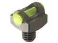 "Marble's Expert Shotgun Front Bead Sight .094"" Diameter 3-56 and M2.5x0.45 Thread 3/32"" Shank Fiber Optic Green"