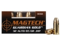 Magtech Guardian Gold Ammunition 32 ACP 65 Grain Jacketed Hollow Point Box of 20