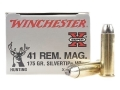 Winchester Super-X Ammunition 41 Remington Magnum 175 Grain Silvertip Hollow Point