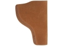 "Bianchi 6 Inside the Waistband Holster Left Hand Colt Python, Ruger GP100, S&W K, L-Frame 4"" Barrel Suede Leather Natural"