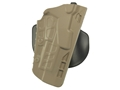 Safariland 7378 7TS ALS Concealment Paddle Holster Left Hand Glock 17, 22 Polymer FDE Brown