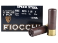 Fiocchi Speed Steel Ammunition 12 Gauge 3&quot; 1-1/8 oz #4 Non-Toxic Steel Shot Case of 250 (10 Boxes of 25)