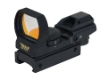 BSA Pano Reflex Red Dot Sight 4 Reticle (3 MOA Dot, Crosshair, 10 MOA Dot Crosshair and 65 MOA Circle with 3 MOA Dot) with Weaver-Style Mount Matte