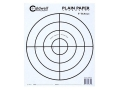 Caldwell Plain Paper Target 8&quot; Bullseye Package of 25