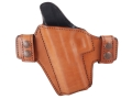 Bianchi Allusion Series 125 Consent Outside the Waistband Holster Left Hand Glock 17, 22, 31 Leather Tan