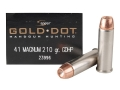 Speer Gold Dot Ammunition 41 Remington Magnum 210 Grain Jacketed Hollow Point Box of 20
