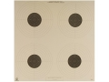 NRA Official Air Pistol Target B-40/4 10 Meter Paper Package of 100