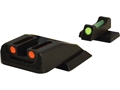 Williams Fire Sight Set Smith & Wesson M&P Aluminum Black Fiber Optic Red Front, Green Rear