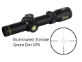 Product detail of Leupold VX-R Zombie Rifle Scope 30mm Tube 1.25-4x 20mm Illuminated Zombie Green Dot SPR Reticle Matte