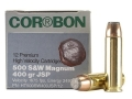 Cor-Bon Hunter Ammunition 500 S&amp;W Magnum 400 Grain Soft Point Box of 12