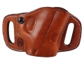 "Product detail of El Paso Saddlery High Slide Outside the Waistband Holster Right Hand S&W M&P 9/40 4"" Leather Russet Brown"
